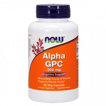 NOW FOODS Alpha GPC 300 mg 60 Veg caps