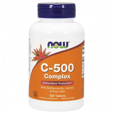 NOW FOODS Vitamin C-500 Complex 100 Tablets