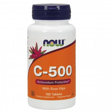 NOW FOODS Vitamin C-500 100 Tablets