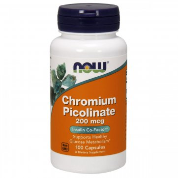 NOW FOODS Now Foods  Chromium Picolinate 200 mcg 100 Capsules