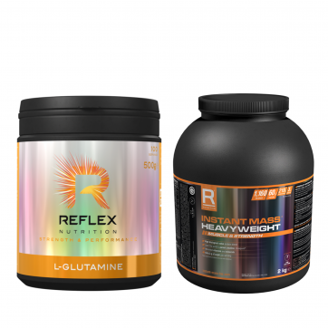REFLEX NUTRITION Instant Mass HeavyWeight Strawberries & Cream 2000gr + L-Glutamine 500gr