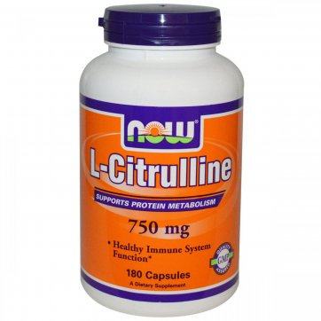NOW FOODS L-Citrulline 750mg Veg 180 caps