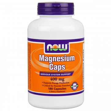 NOW FOODS  Magnesium 400 mg 180 veg caps