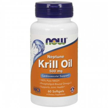 NOW FOODS Krill Oil 500mg 60 Softgels