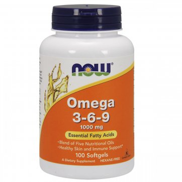 NOW FOODS Now Foods  Omega 3-6-9 100 Softgels