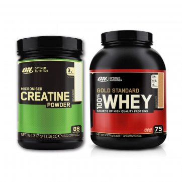 OPTIMUM NUTRITION Gold Standard 100% Whey 2270gr + Micronized Creatine 317g