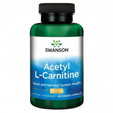 Swanson  Acetyl L-Carnitine 500mg 100 veggie capsules