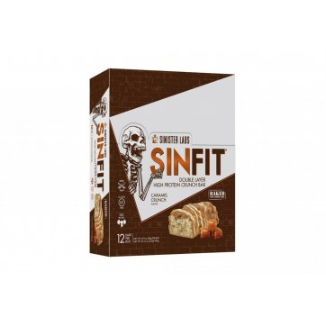 SINISTER LABS SINFIT®  Caramel Crunch Bar  12 bars