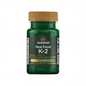Swanson  Real Food K-2 200mcg 30softgels