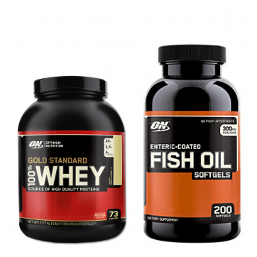 OPTIMUM NUTRITION Gold Standard 100% Whey 2270gr - Fish Oil 200caps + ΔΩΡΟ ON Creatine 317gr